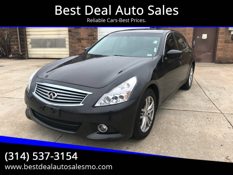 2011 Infiniti G37 Sedan for sale at Best Deal Auto Sales in Saint Charles MO