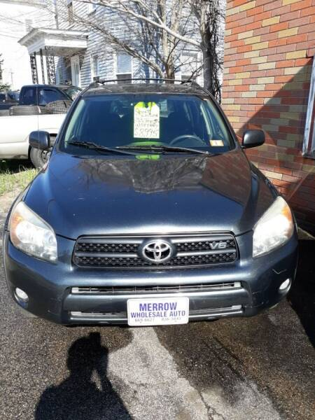 2008 Toyota RAV4 for sale at MERROW WHOLESALE AUTO in Manchester NH