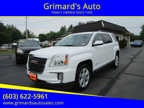 2017 GMC Terrain for sale at Grimard's Auto in Hooksett NH