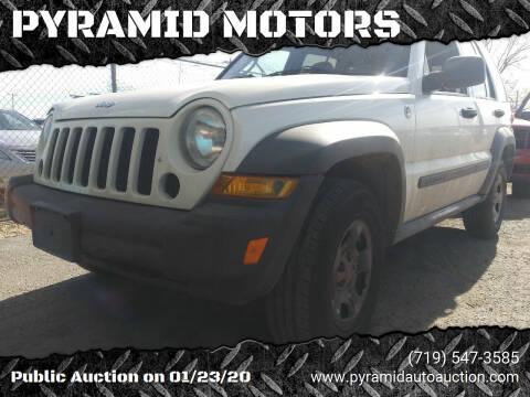 2007 Jeep Liberty for sale at PYRAMID MOTORS - Pueblo Lot in Pueblo CO