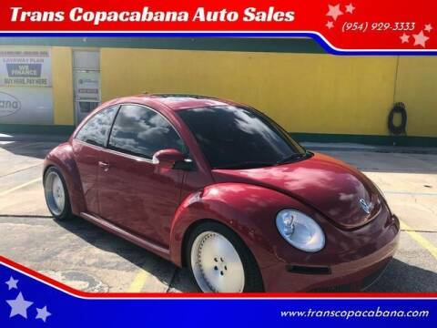 2008 Volkswagen New Beetle for sale at Trans Copacabana Auto Sales in Hollywood FL
