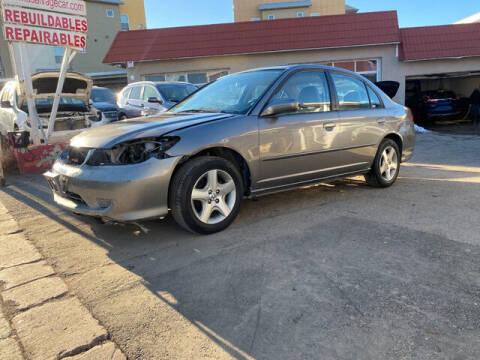 2005 Honda Civic for sale at ELITE MOTOR CARS OF MIAMI in Miami FL