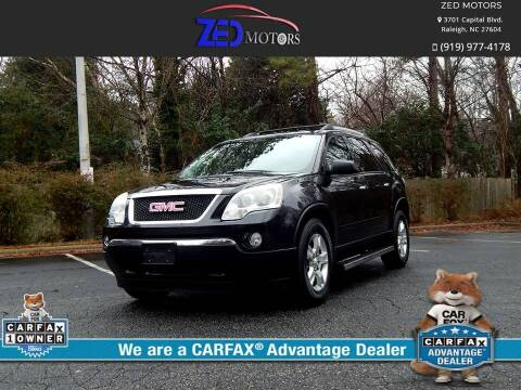 2012 GMC Acadia for sale at Zed Motors in Raleigh NC