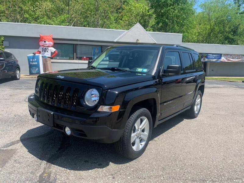 2016 Jeep Patriot for sale at B & P Motors LTD in Glenshaw PA