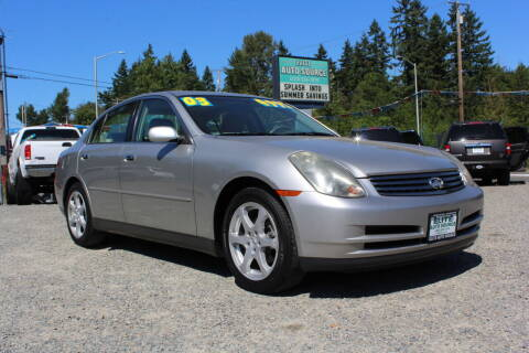 2003 Infiniti G35 for sale at Summit Auto Sales in Puyallup WA