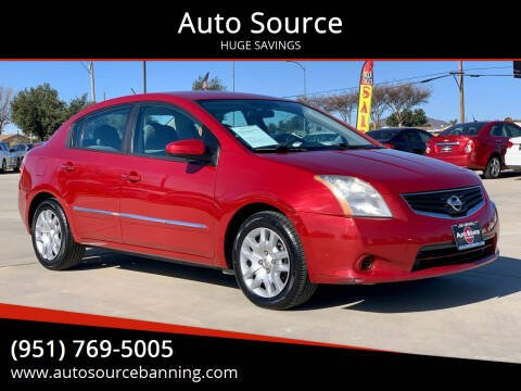 2011 Nissan Sentra for sale at Auto Source in Banning CA