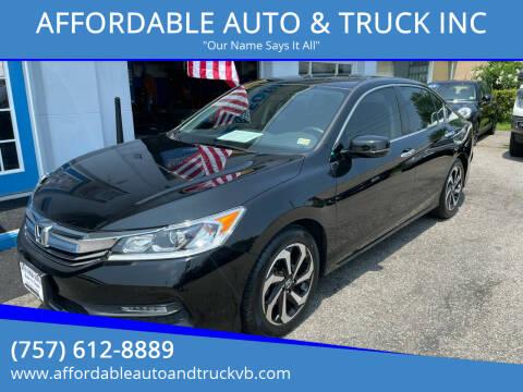 2016 Honda Accord for sale at AFFORDABLE AUTO & TRUCK INC in Virginia Beach VA