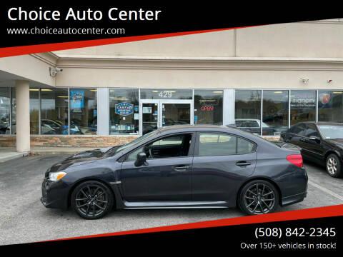 2018 Subaru WRX for sale at Choice Auto Center in Shrewsbury MA