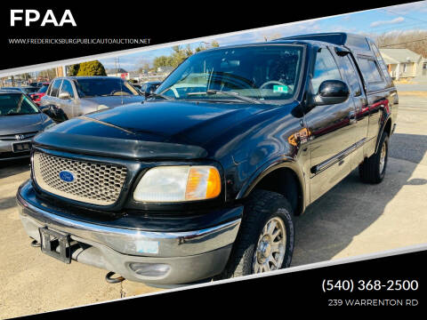 2003 Ford F-150 for sale at FPAA in Fredericksburg VA