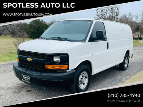 2016 Chevrolet Express Cargo for sale at SPOTLESS AUTO LLC in San Antonio TX