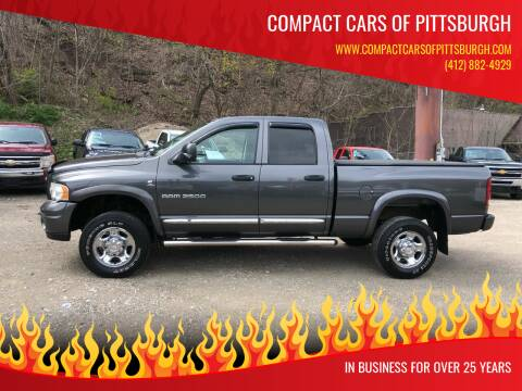 2004 Dodge Ram Pickup 2500 for sale at Compact Cars of Pittsburgh in Pittsburgh PA