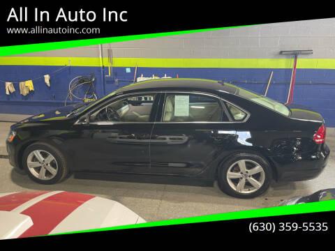 2012 Volkswagen Passat for sale at All In Auto Inc in Addison IL