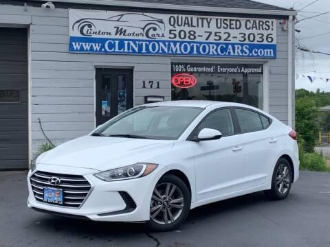 2018 Hyundai Elantra for sale at Clinton MotorCars in Shrewsbury MA