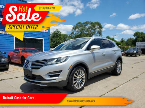 2015 Lincoln MKC for sale at Detroit Cash for Cars in Warren MI