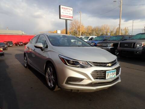 2017 Chevrolet Cruze for sale at Marty's Auto Sales in Savage MN