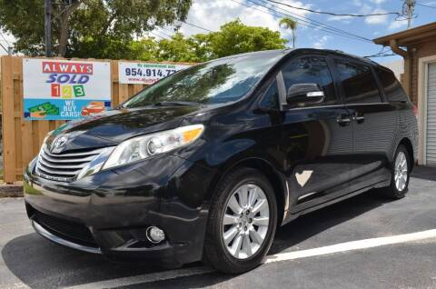 2014 Toyota Sienna for sale at ALWAYSSOLD123 INC in Fort Lauderdale FL
