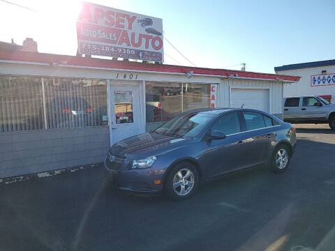 2014 Chevrolet Cruze for sale at Apsey Auto in Marshfield WI