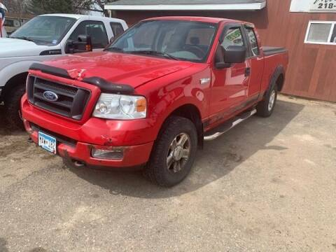 2005 Ford F-150 for sale at Four Boys Motorsports in Wadena MN