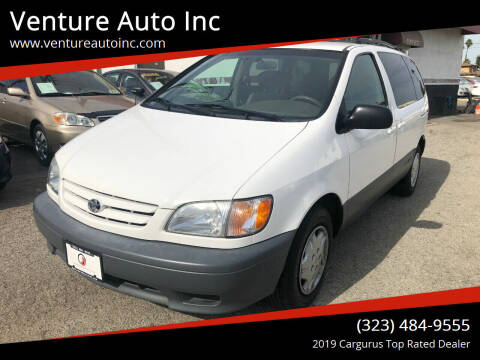 2002 Toyota Sienna for sale at Venture Auto Inc in South Gate CA
