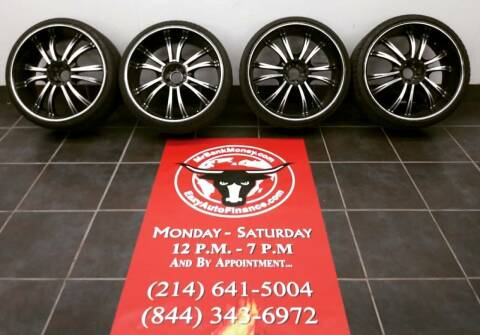 24-Inch Wheels & Tires 24-INCH CUSTOM WHEELS & TIRES for sale at Eazy Auto Finance in Dallas TX