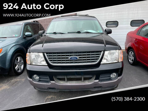 2002 Ford Explorer for sale at 924 Auto Corp in Sheppton PA
