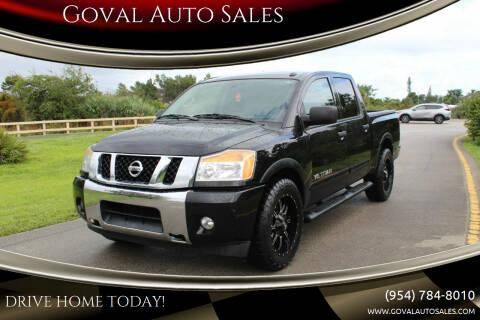 2015 Nissan Titan for sale at Goval Auto Sales in Pompano Beach FL