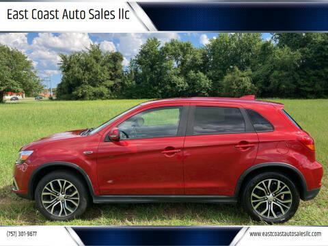 2019 Mitsubishi Outlander Sport for sale at East Coast Auto Sales llc in Virginia Beach VA