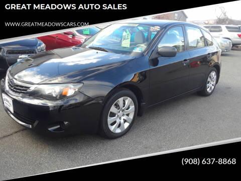 2008 Subaru Impreza for sale at GREAT MEADOWS AUTO SALES in Great Meadows NJ