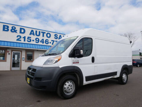 2014 RAM ProMaster Cargo for sale at B & D Auto Sales Inc. in Fairless Hills PA