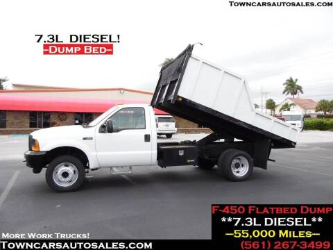 2001 Ford F-450 for sale at Town Cars Auto Sales in West Palm Beach FL