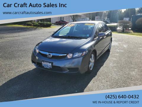 2009 Honda Civic for sale at Car Craft Auto Sales Inc in Lynnwood WA