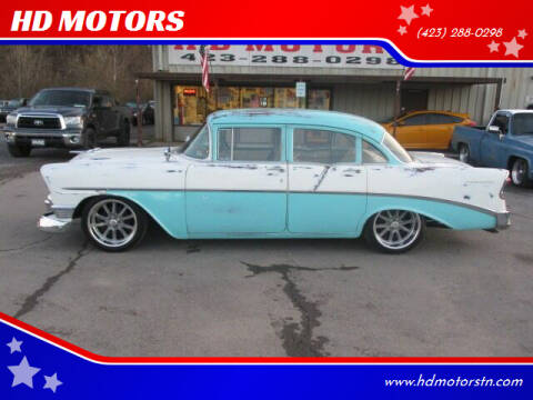 1956 Chevrolet Bel Air for sale at HD MOTORS in Kingsport TN