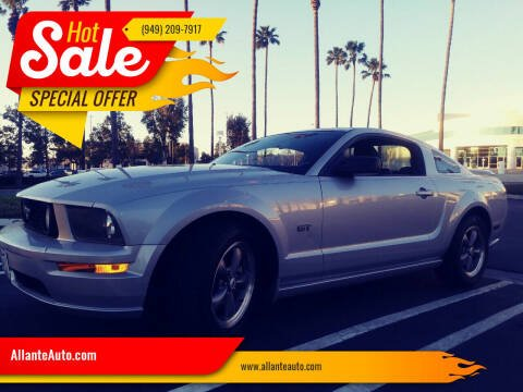 2005 Ford Mustang for sale at AllanteAuto.com in Santa Ana CA
