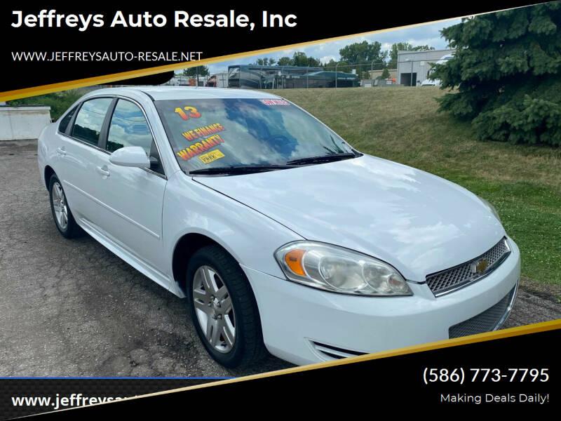 2013 Chevrolet Impala for sale at Jeffreys Auto Resale, Inc in Clinton Township MI