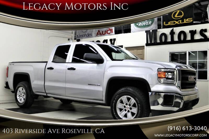 2014 GMC Sierra 1500 for sale at Legacy Motors Inc in Roseville CA