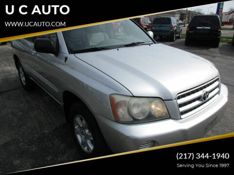 2001 Toyota Highlander for sale at U C AUTO in Urbana IL