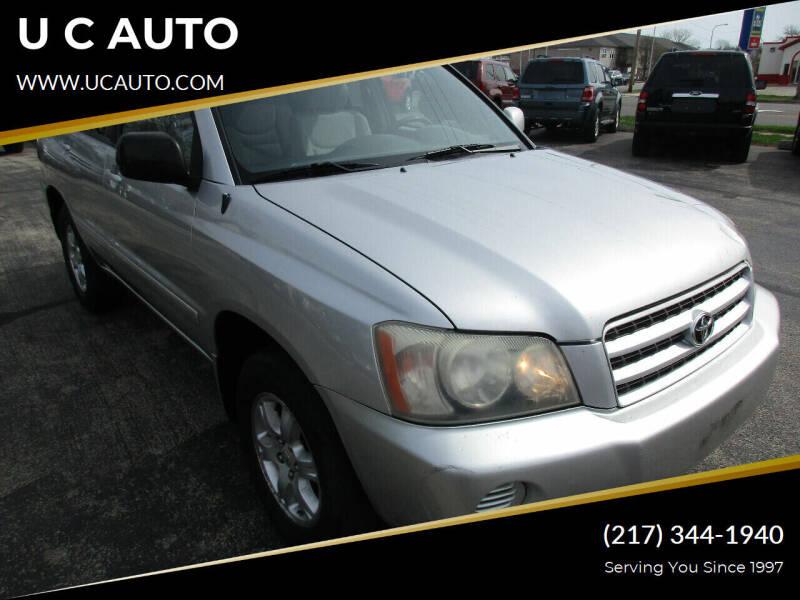 2001 Toyota Highlander for sale at U C AUTO in Urbana IL