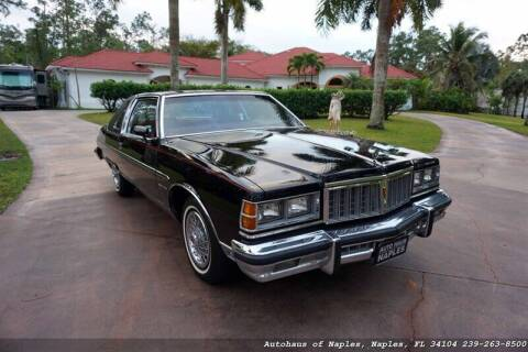 1978 Pontiac Bonneville for sale at Autohaus of Naples Inc. in Naples FL