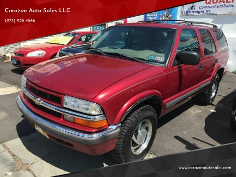 2001 Chevrolet Blazer for sale at Corazon Auto Sales LLC in Paterson NJ