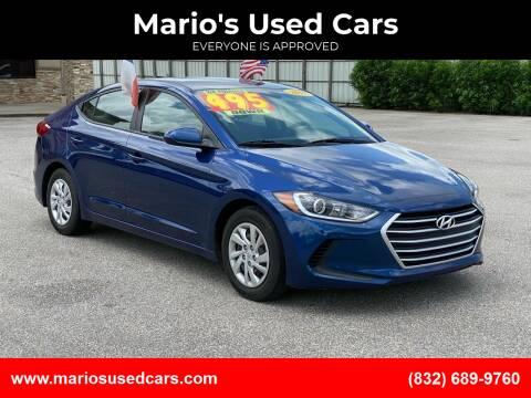 2017 Hyundai Elantra for sale at Mario's Used Cars - Pasadena Location in Pasadena TX