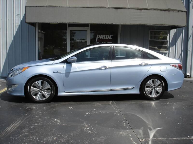 2013 Hyundai Sonata Hybrid for sale at PRIDE AUTO SALES LLC in Nokomis FL