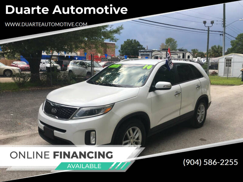 2014 Kia Sorento for sale at Duarte Automotive in Jacksonville FL