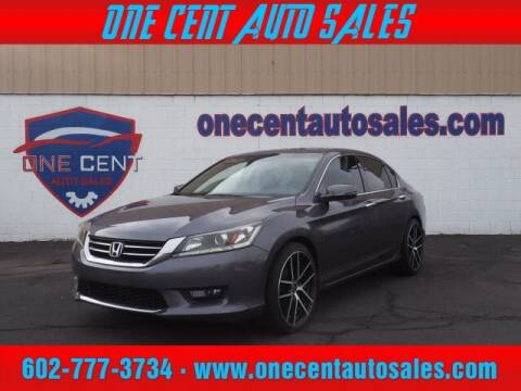 2015 Honda Accord for sale at One Cent Auto Sales in Glendale AZ