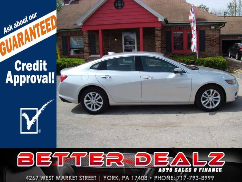 2018 Chevrolet Malibu for sale at Better Dealz Auto Sales & Finance in York PA