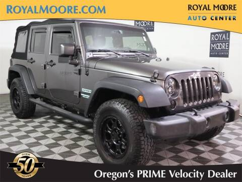 2014 Jeep Wrangler Unlimited for sale at Royal Moore Custom Finance in Hillsboro OR