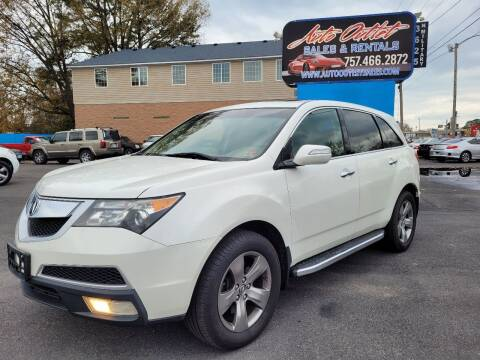 2010 Acura MDX for sale at Auto Outlet Sales and Rentals in Norfolk VA