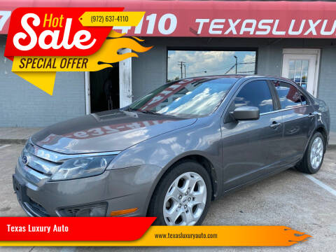 2010 Ford Fusion for sale at Texas Luxury Auto in Cedar Hill TX