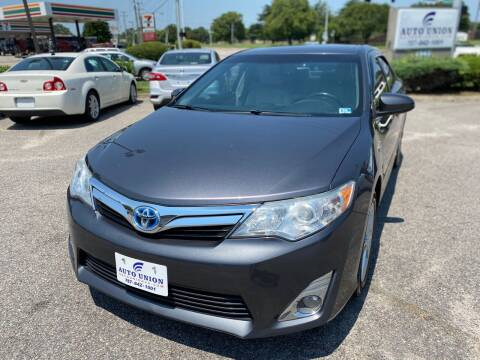 2014 Toyota Camry Hybrid for sale at Auto Union LLC in Virginia Beach VA