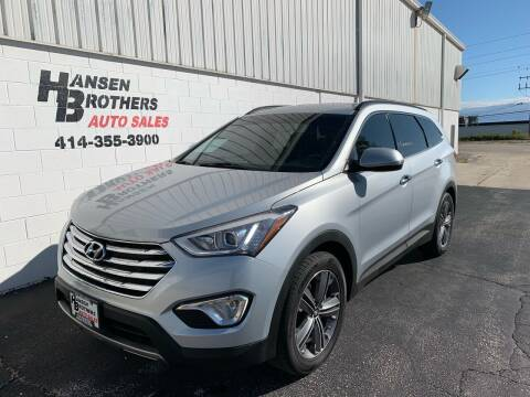 2016 Hyundai Santa Fe for sale at HANSEN BROTHERS AUTO SALES in Milwaukee WI