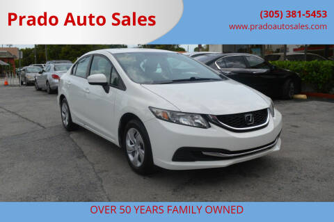 2014 Honda Civic for sale at Prado Auto Sales in Miami FL